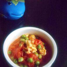 西红柿鸡蛋炒豌豆