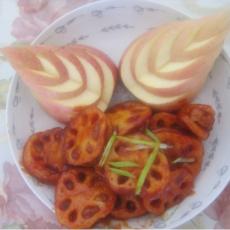 番茄莲藕夹心圈的做法