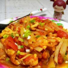 西红柿鸡蛋炒瓠子