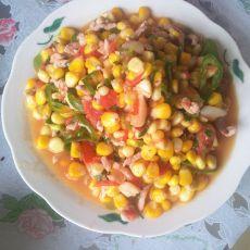 玉米番茄炒肉丝