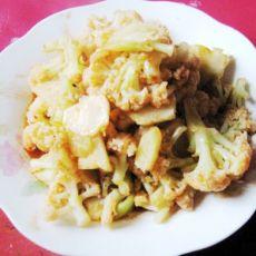 番茄沙司炒菜花