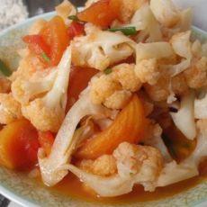 番茄炒菜花的做法