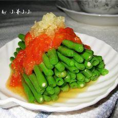 蒜香番茄浇豇豆