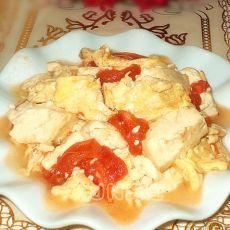 番茄鸡蛋炖豆腐的做法