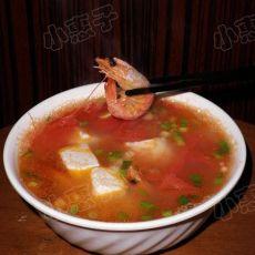 对虾番茄豆腐汤 的做法