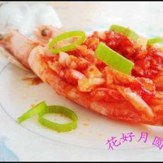 蒜蓉番茄虾的做法