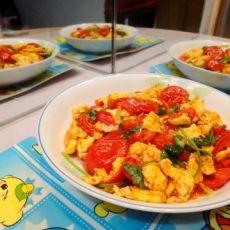 煎蛋炒番茄的做法