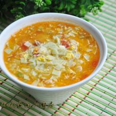 西红柿面琪汤的做法