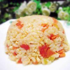 西红柿胡萝卜蛋炒饭