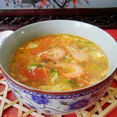 对虾番茄蛋汤
