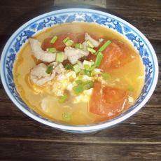 番茄煎蛋肉丝汤的做法