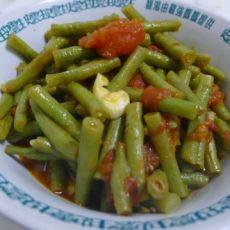 番茄闷豇豆