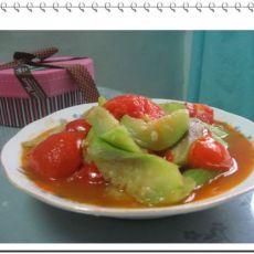 丝瓜炒番茄