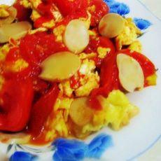 西红柿火腿炒鸡蛋的做法