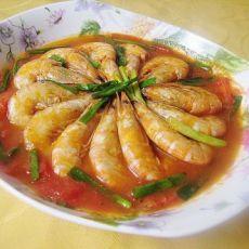 番茄煮海虾