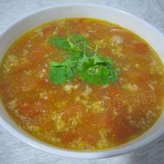 番茄肉末汤的做法