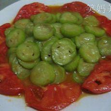 番茄炒丝瓜的做法
