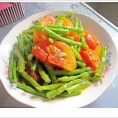 番茄豇豆的做法