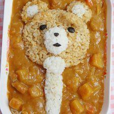 泰迪熊扇子咖喱饭的做法