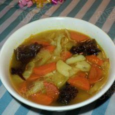 咖喱包菜土豆汤的做法