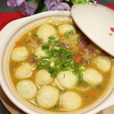咖喱鱼丸煲