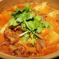泰式咖喱牛筋煲