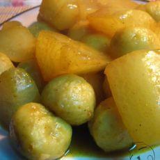 咖喱萝卜鱼丸的做法
