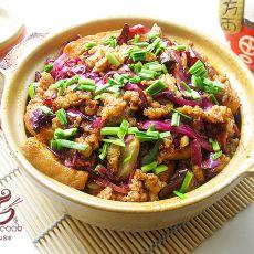 鱼香豆腐煲的做法
