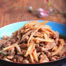 仔姜炒鸭肉