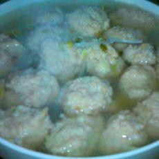 豆芽丸子汤