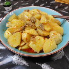 鸡油渣烧土豆