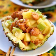 菠萝鸡丁的做法