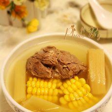 甘蔗粟米炖猪展
