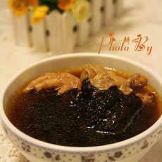 黑虎掌花胶炖鸡脚汤的做法