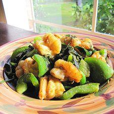 圆椒咖喱虾
