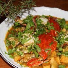 咖喱洋葱炒蟹
