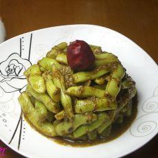 烤肉料焖四季豆