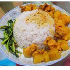 土豆咖喱鸡饭