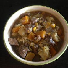 咖喱牛肉烩时蔬