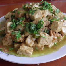 咖喱鱼花豆腐的做法