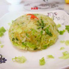 咖喱白菜炒饭的做法