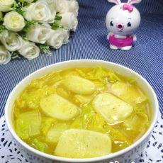 咖喱娃娃菜年糕汤的做法