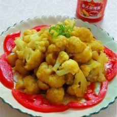 咖哩腊肉炒菜花