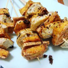香煎孜然豆腐串