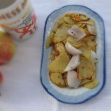 葱头炒土豆片--孜然味
