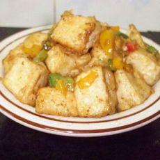 孜然豆腐的做法