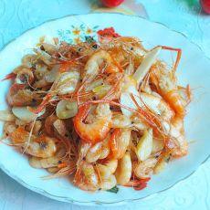 蒜片虾的做法
