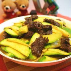 云南小瓜炒牛肉的做法