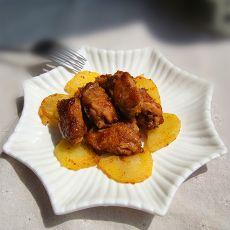 香煎孜然土豆鸡翅的做法