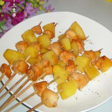 鸡丁土豆串